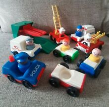 little people fisher price vehicles cars police