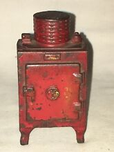 hubley general electric red refrigerator