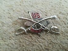 1960 us cavalry metal toy badge probably