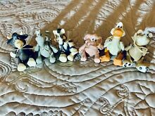 russ berrie k kelly 6 clay hinged animals duck