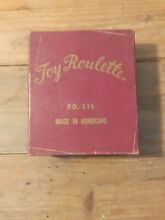 1950 s toy no 110 toy roulette wheel w