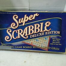 scrabble super deluxe edition rotating