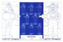 robby the robot robby robot blueprint poster