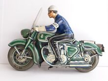 tipp co motorcycle tin friction toy