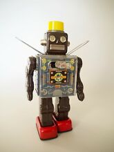 sh fighting robot tin space toy