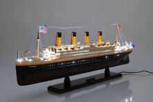 titanic rms ocean liner w lights 32 wood