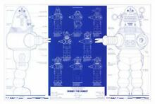robby the robot robby robot blueprint poster 16 x24