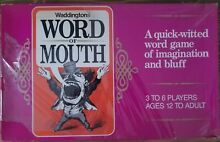 waddingtons word mouth board game new unused