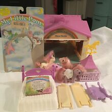 my little pony mlp 1983 show stable set w 4 baby