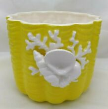fitz floyd double side yellow white sea shell