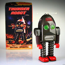 thunder robot mechanical s tin toy collectable