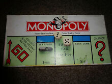 parker bros monopoly complete good condition