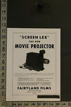 toy movie projector 1947 toy ad screen lex movie 35 mm