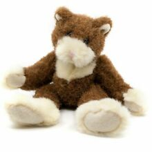russ berrie plush kitty cat scurry brown white