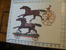 george brown 11 x 14 toy poster tin toy horse on