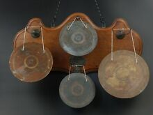 gong bell wood wall westminster chimes brass