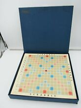 scrabble 1966 deluxe edition raised rotating