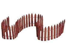wooden lemax wired fence
