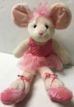 russ berrie pink ballerina mabellina mouse 20