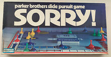 board game sorry 1972 parker brothers game