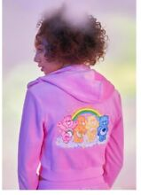 care bears embroidered crop hoodie size m uk 8