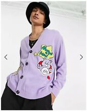 care bears x asos x lilac knitted oversized