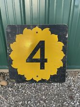 road sign retired authentic interstate 24 x24