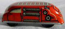 c 1950s tin litho fire truck engine