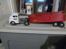 1950 truck and trailer toy pressed