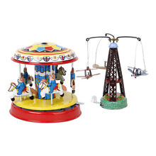 carousel 2pack wind up rotating airplane