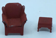 tootsietoy 1930 s dollhouse red arm chair