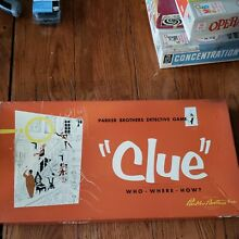 board game clue detective game 1950 parker