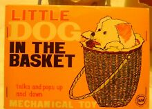 alps dog in basket wind up toy in box