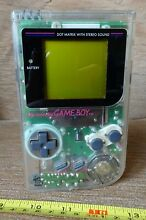 nintendo game boy handheld console transparent clear