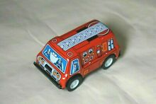sanko new tin toy friction 3 red fire