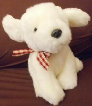 russ berrie nugget white puppy dog preowned