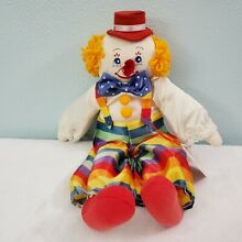 russ berrie clown charlie multicolor striped