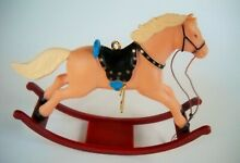 rocking horse russ berrie 80 s christmas ornament