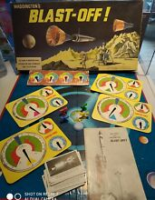 waddingtons blast off 1969 board game complete space