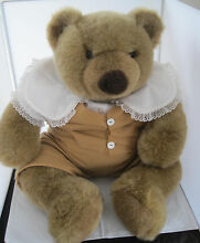 russ berrie large peanut butter squeezable bear