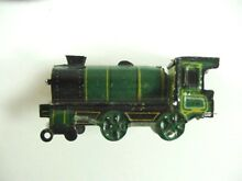2 tin litho train locomotive cko