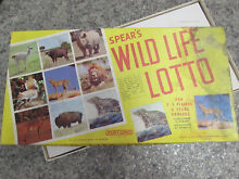 spears game 1981 s wild life lotto game 100