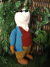 tommy toy hand knitted tommy brock soft toy