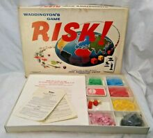 risk 1960s board game boxed by