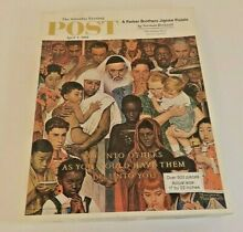 norman rockwell puzzle parker brothers 500 piece norman