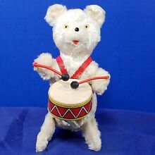 alps mechanical drummer bear toy wind up