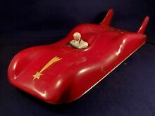arnold rare tin toy race car wire guided