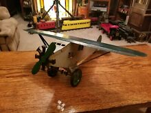 steelcraft old metal toy airplane
