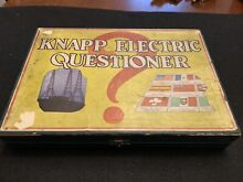 knapp 1920s electric questioner game