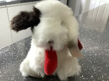 russ berrie collectable white black dog 8